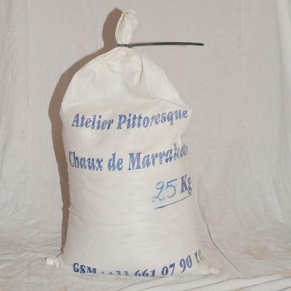Chaux de Marrakech en poudre tamisée 25kg
