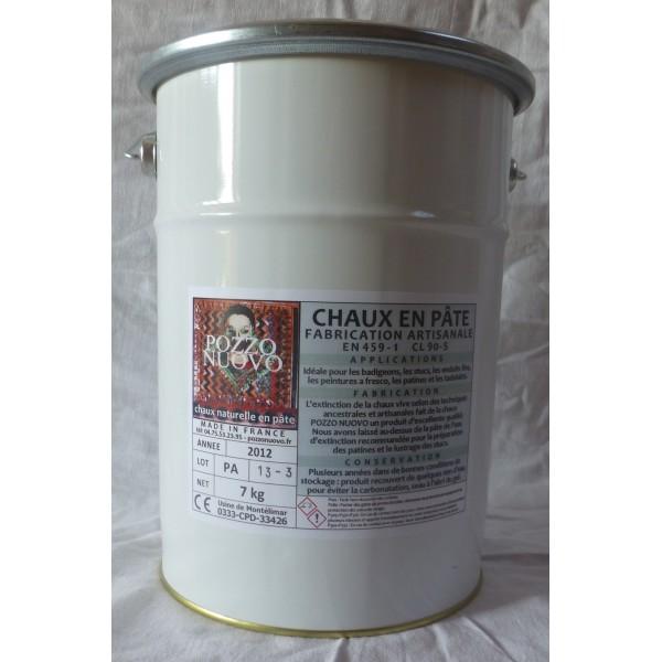 Chaux en pâte Pozzo Nuovo 7 kg
