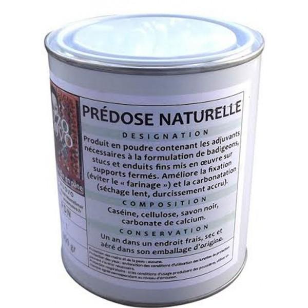 Prédose naturelle 1kg pour badigeons stucs et enduits fins
