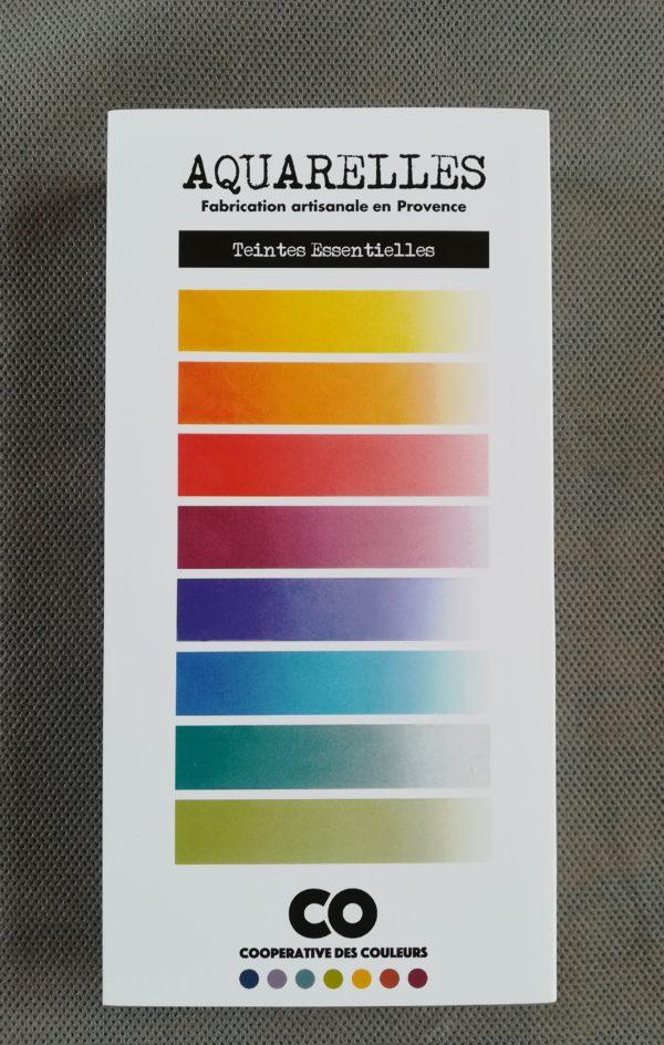 """Coffret de 8 godets d'aquarelles """"Teintes essentielles"""" couleurs vives"""